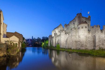 belgique: Medieval Gravensteen castle, Ghent, Belgium