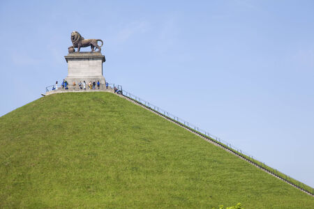 wallonie: The Lion of Waterloo, the artificial mound symbol of the english victory against the army of the french Emperor Napoleon Editorial