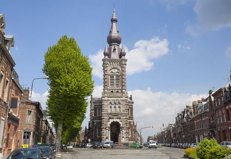 Church od Saint Michael in Valenciennes, France Standard-Bild