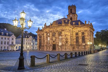 Ludwigskirche - ザールブリュッケン、ドイツのバロック様式のプロテスタント教会 写真素材