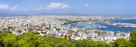 High resolution aerial panorama of Palma de Majorca, Spain