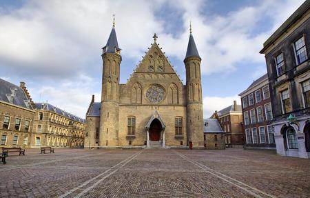 Gothic facade of Ridderzaal in Binnenhof, Hague, Netherlands