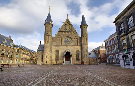 Gothic facade of Ridderzaal in Binnenhof, Hague, Netherlands