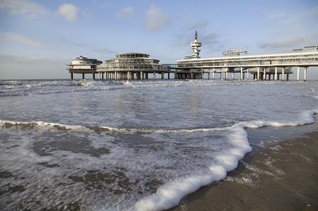 Pire on Scheveningen beach in Gague, Hetherlands