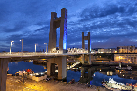 Recouvrance Bridge (Pont de Recouvrance) - a massive drawbridge 64 m high in Brest, Brittany, France