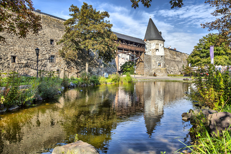 Old city wall of Andernach, Germany Standard-Bild