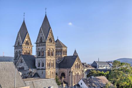 ドイツ、コブレンツの中心部にヘルツ Jesu 教会 写真素材