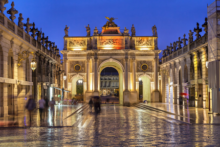 france: Stanislas Square in the evening, Nancy, Lorraine,  France