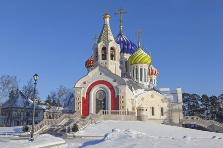 igor: Temple of the Holy Great Prince Igor of Chernigov in Peredelkino in winter season