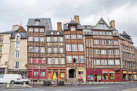 half timbered: Old half-timbered buildings in Rennes, Brittany, France