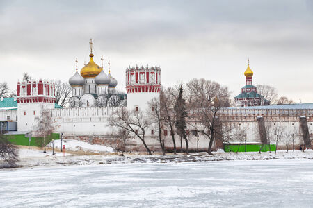 convent: Novodevichiy Convent, also known as Bogoroditse-Smolensky Monastery, Moscow, Russia Stock Photo