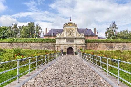 citadel: Entrance to the Vauban Citadel (17th century), Lille, France