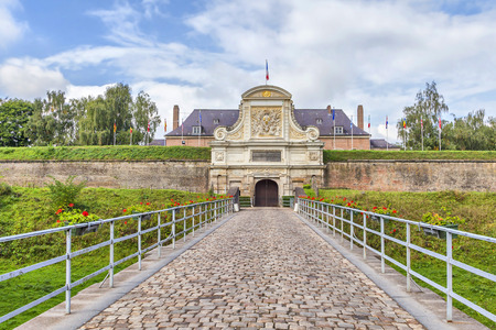 Entrance to the Vauban Citadel (17th century), Lille, France