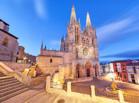 Burgos Cathedral in the evening light Spain Stock Photo