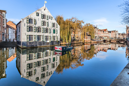 lier: Buildings on riverside in Lier, Flander, Belgium