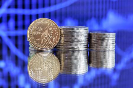 Vorder Und Rückseite Von 25 Euro Münze Im Jahr 2015 Durch Belgien