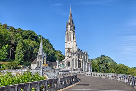 Rosary Basilica in Lourdes, Hautes-Pyrenees, France