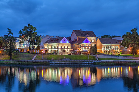 svisloch: Trinity Hill (Trojeckaje Pradmiescie) -  the oldest district of Minsk, Belarus Stock Photo