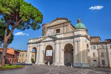 Main facade of Ravenna Cathedral, Itlay Stock fotó