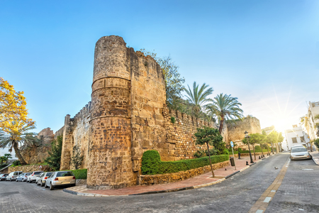 Preserved remains of Alcazaba fortress in Marbella, Andalusia, Spain
