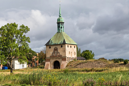Ruins of Johannisborg Castle built in 1613 and burned down in 1719 by Russian troops in Norrkoping, Sweden