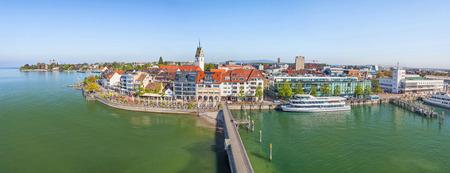 Panoramic cityscape of Friedrichshafen, Baden-Wurttemberg, Germany