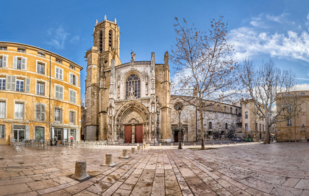 The Cathedral of the Holy Saviour in Aix-en-Provence, Bouches-du-Rhone, France