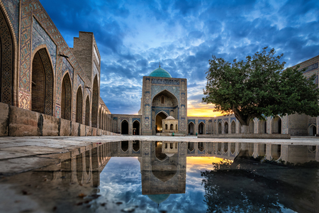 Inner courtyard of the Kalyan Mosque, part of the Po-i-Kalyan Complex in Bukhara, Uzbekistan Stock Photo - 101270485