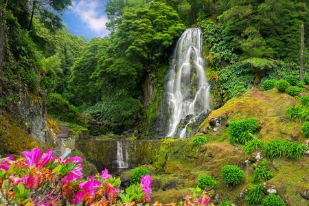 Veu da Noiva Wasserfall, Insel Sao Miguel, Azoren, Portugal