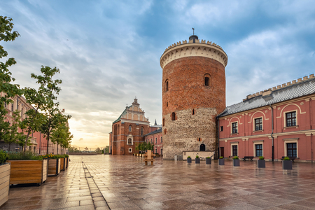 Romanesque castle tower - one of the oldest buildings in Lublin, Poland