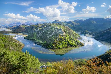 Bend of river Rijeka Crnojevica in Montenegro