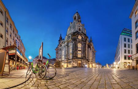 Dresden, Germany. Frauenkirche - Baroque church reconsecrated after being destroyed in World War II