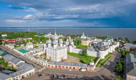 Aerial view of Rostov Kremlin, Rostov Veliky, Yaroslavl Oblast, Russia