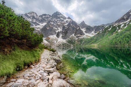 Morskie Oko lake in Tatra mountains, Poland Standard-Bild