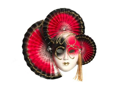 The red white black maska from venice photo