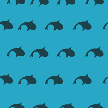 Golden Ratio Fish Pattern on Blue Background