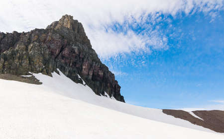 Glacier National Park: mountain cover with snow at Glacier national park Stock Photo