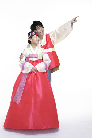 Couple in Korean Dress