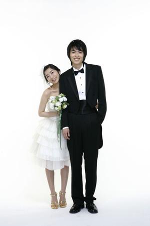 selebration: Wedding Couple Stock Photo