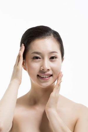 Beautiful Asian Woman Skin Care & Beauty Concept