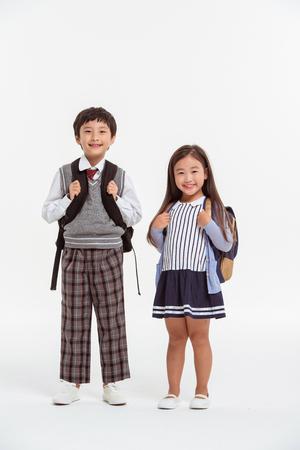 Famille asiatique Portrait / isolé sur blanc