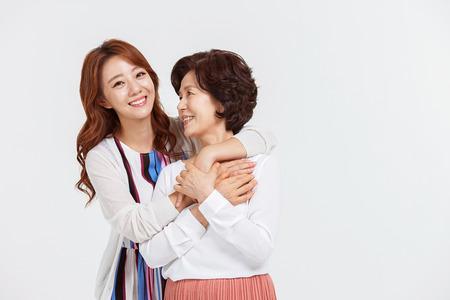 Portret van Happy Asian Family Stockfoto