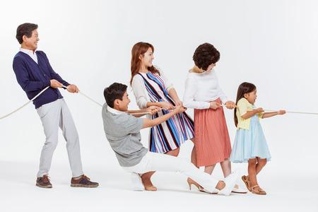 Portret van Happy Asian Family
