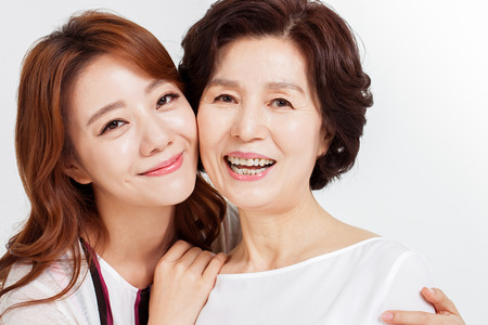 アジアの幸せな家族の肖像画 写真素材