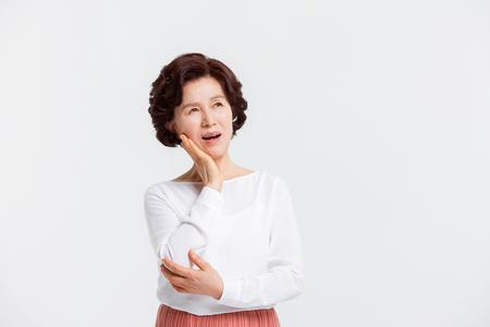 Portret van Aziatische Senior Woman Stockfoto