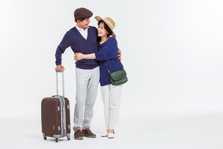 Portrait of Asian Senior Couple Banco de Imagens