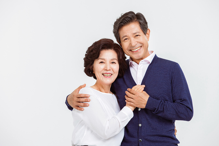 Portrait of Asian Senior Couple Stock Photo