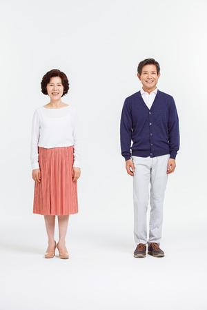 アジアのシニア カップルの肖像画 写真素材