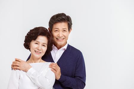 Portrait of Asian Senior Couple Stock Photo