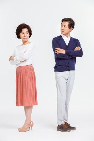 companions: Portrait of Asian Senior Couple Stock Photo